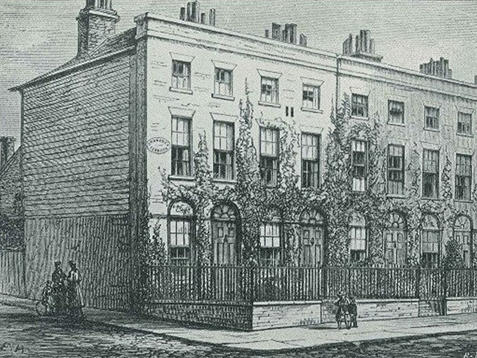 Black and white image of Ordnance House
