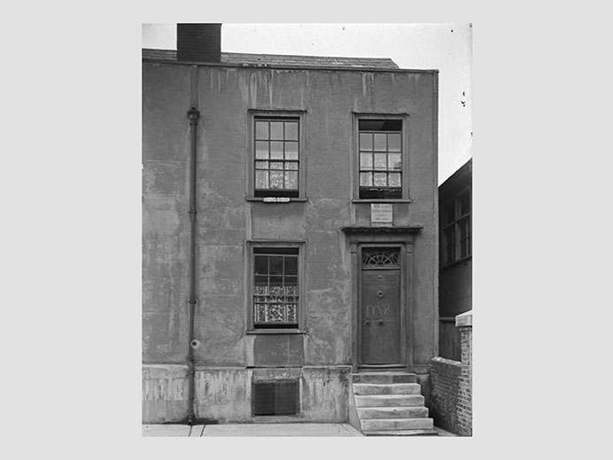 Black and white image of Charles Dickens' home