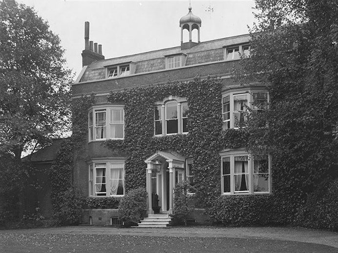 Black and white image of Gad's Hill Place
