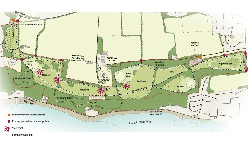 Proposed concept plan for Cockham community parkland