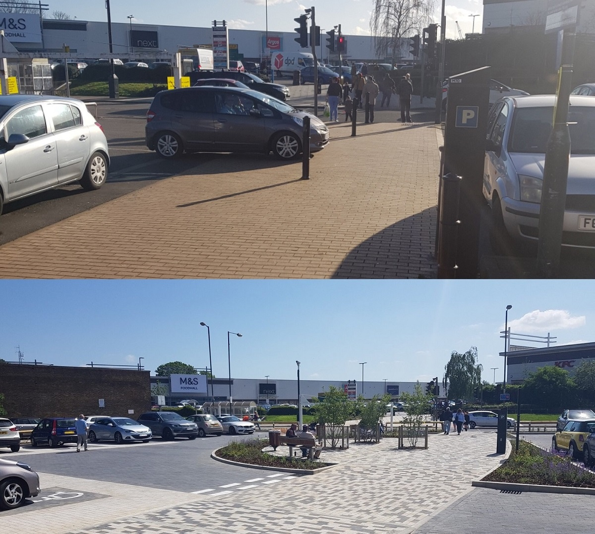 Commercial Road before and after