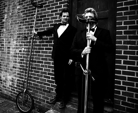 Garaghty and thom with unicycles