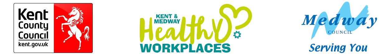 Medway Council, k=Kent County Council and Healthy workplaces logos
