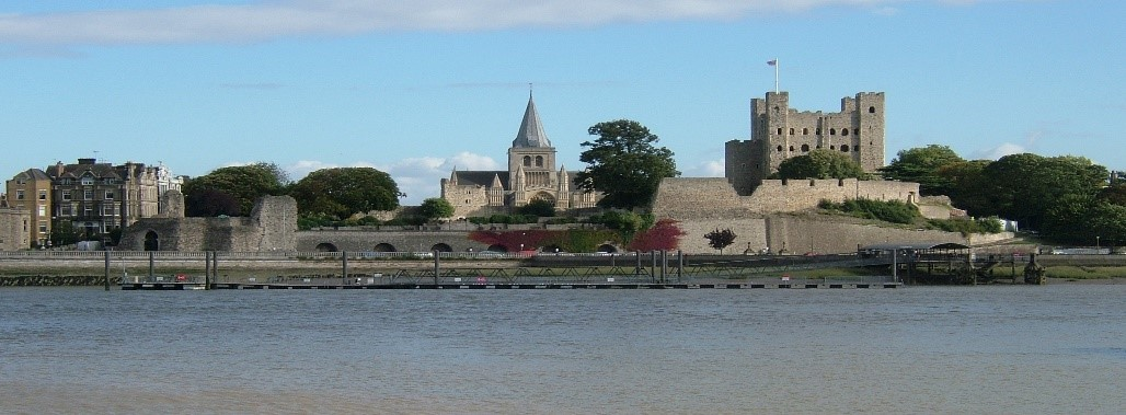 Castle in Medway by the river