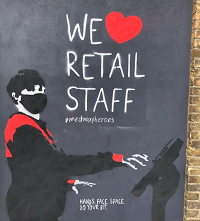 Artwork from Julia focusing on retail staff.