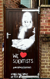 Artwork by Julia shows scientists.
