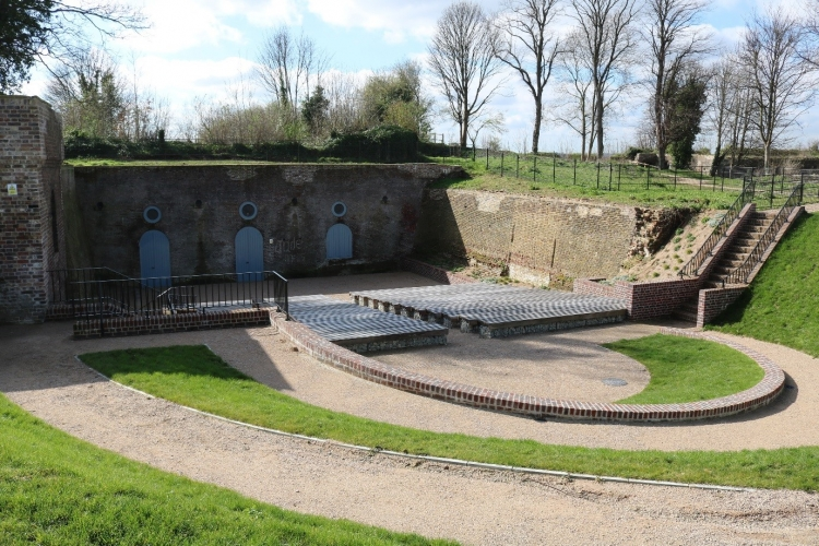 Spur battery amphitheatre within Fort Amherst