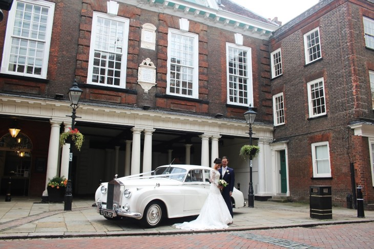 Wedding car outside guildhall museum 1