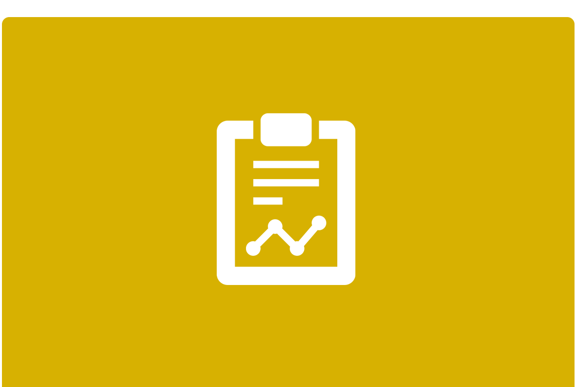Yellow background and white outline of clipboard
