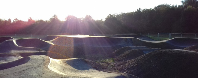 See the new BMX pump track in Gillingham