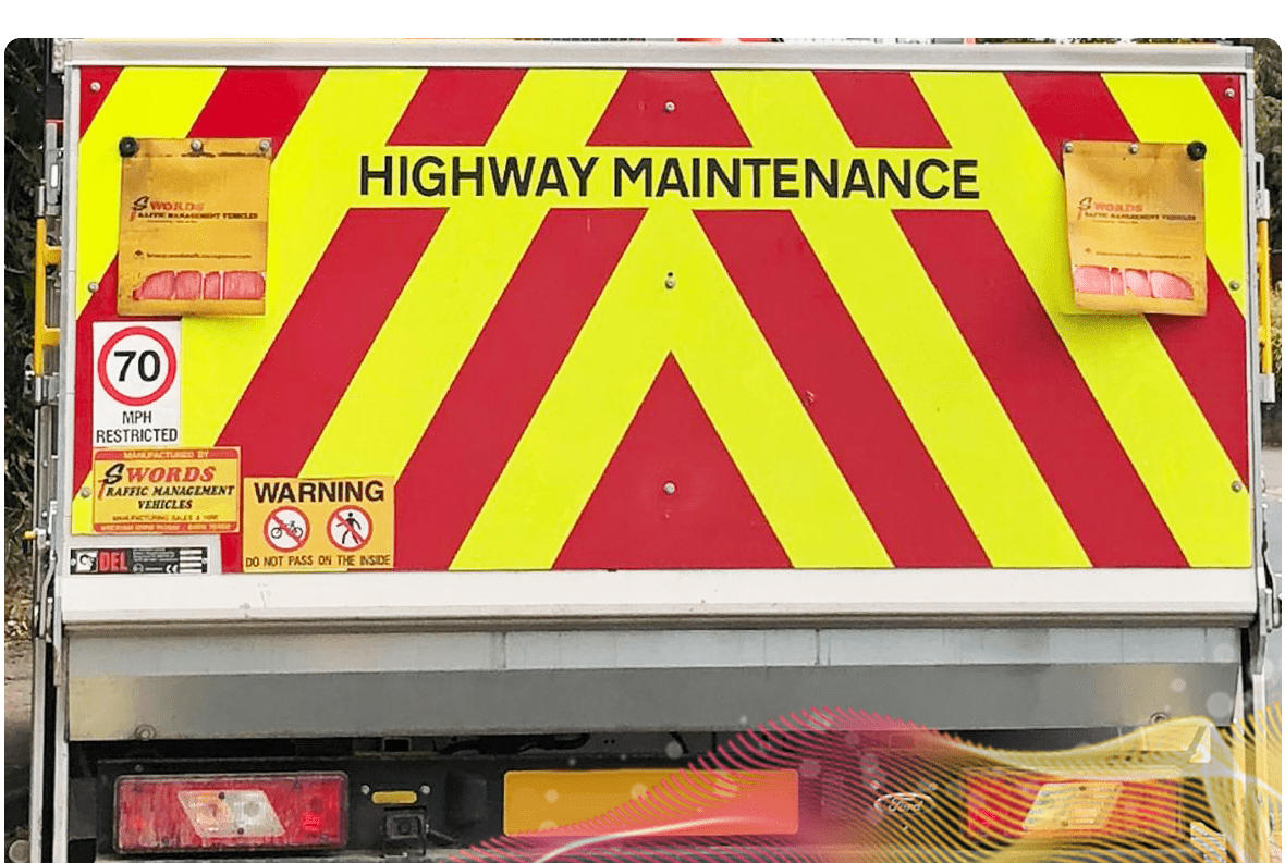 Picture of a highway maintenance van