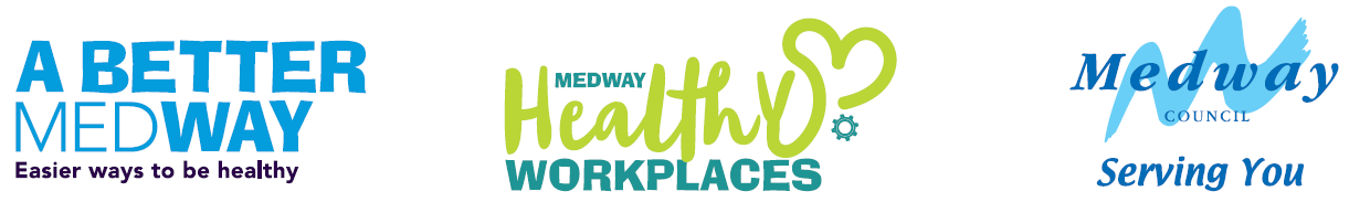 A Better Medway, Helathy Workplace logos