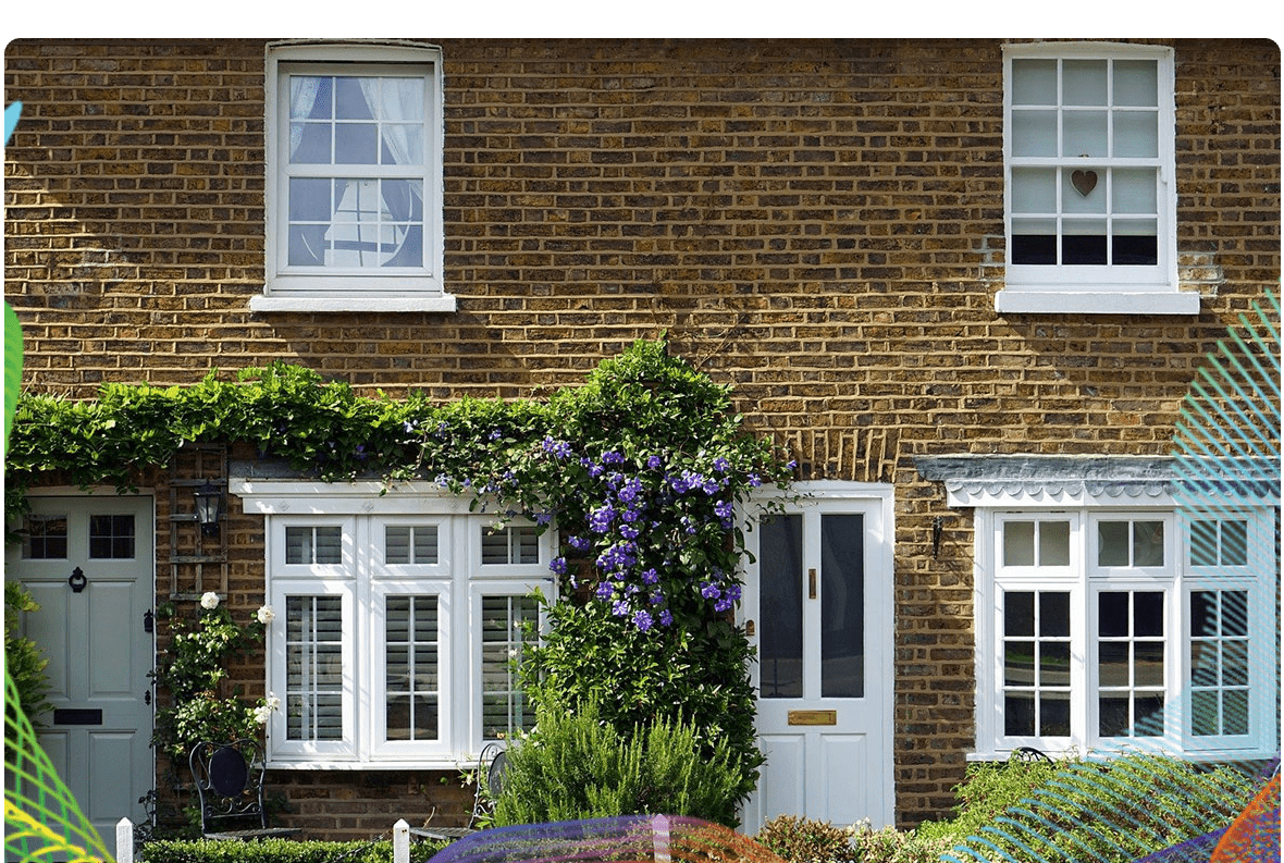 image of a row of houses