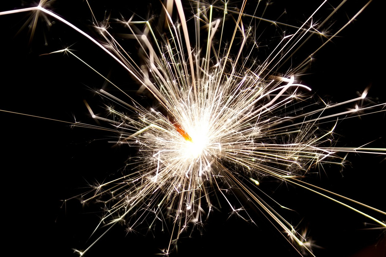Sparkler at bonfire night
