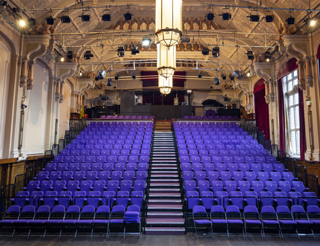 The Brook Theatre Chatham view of empty seats from the stage